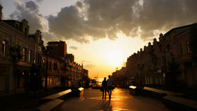 Sunset in the city. Russia,Vladivostok.a beautiful sunset Stock Photography