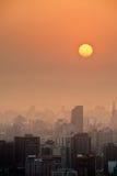 Sunset city scenery Royalty Free Stock Image