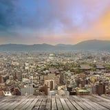 Sunset city scenery of Kyoto Stock Image
