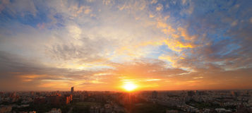 The sunset of city Royalty Free Stock Images