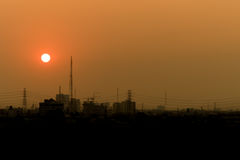 Sunset on city Royalty Free Stock Photography