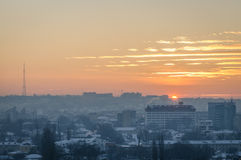 Sunset in the City Stock Photography