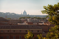Sunset the city in summer, Rome, Italy, Europe Stock Photos