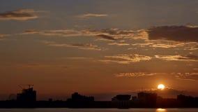 Sunset city timelapse Kazan Chasha. Sunset city timelapse of Kazan Chasha eavning stock video footage