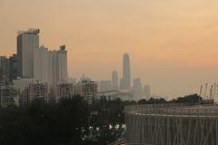 Sunset of city view at hong kong Royalty Free Stock Images