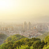 Sunset cityscape Royalty Free Stock Images