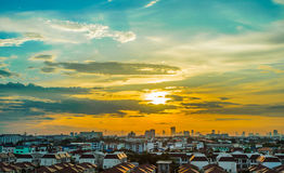 Sunset cityscape Stock Photo