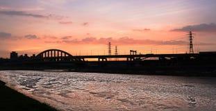 Sunset cityscape Stock Photography