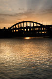 Sunset cityscape Stock Images