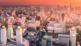 Sunset cityscape with skyscrapers of Bangkok. Thailand Stock Photography