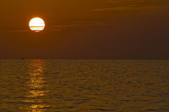 Sunset Clearwater Beach Royalty Free Stock Photography