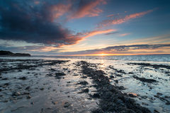Sunset at Clevedon in Somerset Royalty Free Stock Images