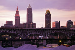 Sunset in Cleveland Stock Photos
