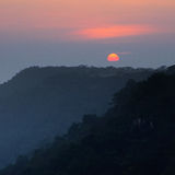 Sunset at cliff, Thailand Royalty Free Stock Images