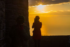Sunset at Cliffs of Moher Stock Image