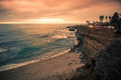 Free Sunset Cliffs San Diego California Stock Photography - 112619822