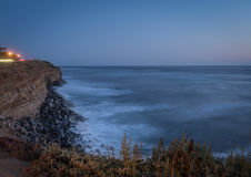 Sunset Cliffs, San Diego, California. After the sunset in Sunset Cliffs royalty free stock photography