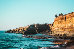 Sunset Cliffs in San Diego, California. Photo of Sunset Cliffs in San Diego, California Stock Photos