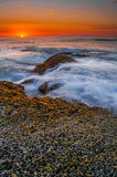 Sunset Cliffs. The sun sets at Sunset Cliffs in San Diego, CA Stock Images