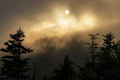 Sunset on Clingman's Dome in the Smokies Stock Photo