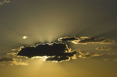 Sunset Cloud. Photograph of a cloud against a sunset Royalty Free Stock Image