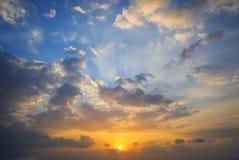 Sunset cloud Stock Photos