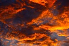 Sunset cloud background Royalty Free Stock Photo