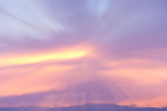Sunset cloud formations Royalty Free Stock Photography