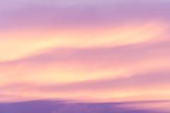 Sunset cloud formations Stock Photos