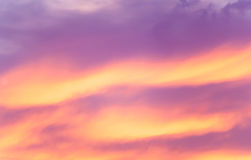 Sunset cloud formations Royalty Free Stock Image