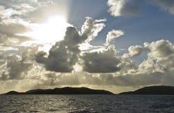 Sunset Cloud Rays Royalty Free Stock Photos
