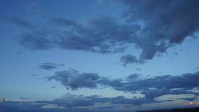 Sunset Cloud Timelapse in the American Southwest stock video