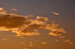 Sunset clouds. Colorful clouds at sunset in southern california Royalty Free Stock Photography