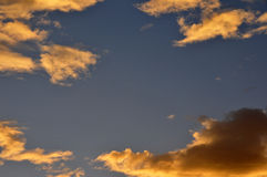 Sunset clouds. Colorful clouds at sunset in southern california Stock Photos