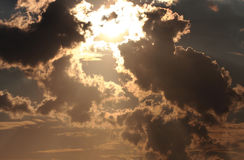Sunset and clouds. For background Stock Photography