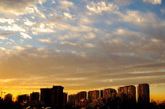 Sunset clouds. Beautiful sunset clouds, shot at suburb, Beijing. China Royalty Free Stock Images