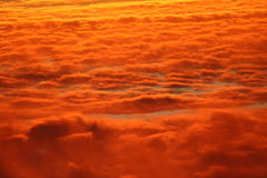 Sunset Clouds. Close up of clouds with sunset shining through Stock Image