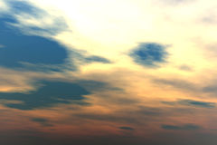 Sunset clouds. 3d render illustration royalty free illustration