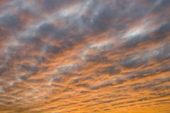 Sunset Clouds background Stock Photos