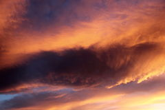 Sunset Clouds. Colorful sunset clouds at the end of the day royalty free stock photography