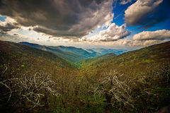 Sunset and clouds at craggy gardens blue ridge parkway Stock Image