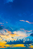 Sunset in clouds Royalty Free Stock Photo