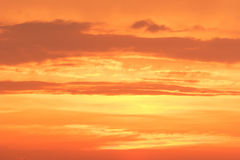 Sunset clouds  Global warming Stock Photo