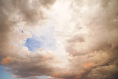 Sunset with clouds Royalty Free Stock Photography