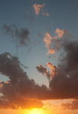Sunset with clouds Royalty Free Stock Photos