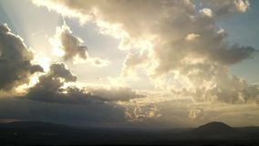 Sunset with Clouds in the Nature stock video footage