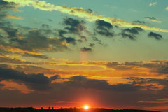 Sunset clouds and nature Royalty Free Stock Photos