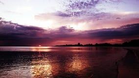 Sunset  Clouds & Ocean Stock Photo