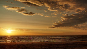 Sunset sunny beach Royalty Free Stock Images