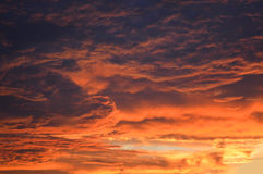 Sunset clouds orange Stock Photos